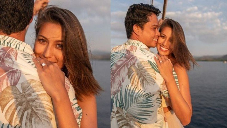 """Rachel Peters is ENGAGED!! The 2017 Miss Universe Philippines announced the exciting news that she's getting """"hitched"""" with CamSur governor Miguel Luis Villafuerte yesterday, November 10."""
