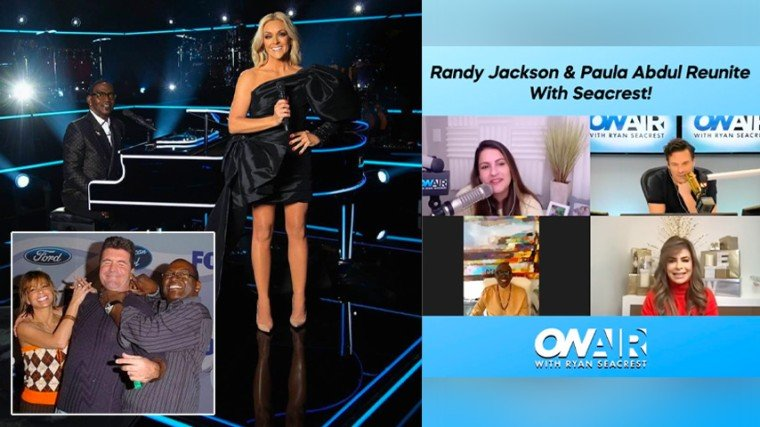 """Both Paula and Randy are promoting their shows together at the FOX network at Ryan Seacrest's radio show, """"On Air With RyanSeacrest."""" Paula is one of the judges in The Masked Dancer, while Randy plays the piano in the reboot of Name That Tune."""