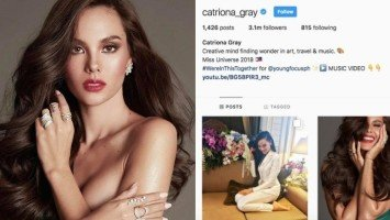 Catriona Gray hits 3 million followers on Instagram after the win