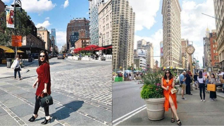 KC Concepcion took it to the streets of New York not only to admire its beautiful surroundings but to do it stylishly, as well.