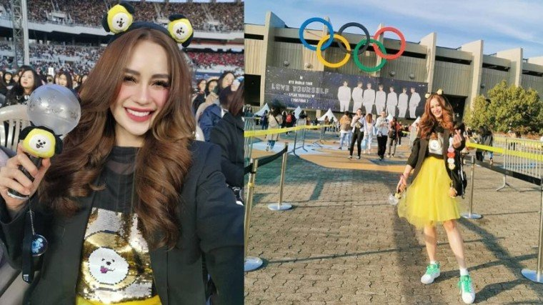 Arci Munoz attended one of the three-day shows of her favorite K-pop boy group BTS in Korea!