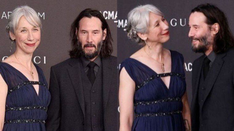 Keanu Reeves and Alexandra Grant attended the  LACMA Art + Film event in Los Angeles while holding each other's hands.