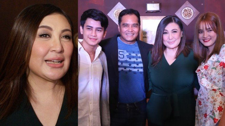 (Right Photo: Sharon [third from left] with her Kuwaresma family (L-R) newcomer Kent Gonzales, John Arcilla, and Kent's real life sibling, Pam Gonzales.)