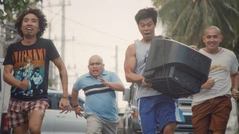 "The best ""holdupper-wannabes"": (L-R) Pepe Herrera, Jelson Bay,  Jerald Napoles, and Paolo Contis."