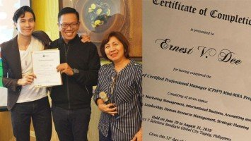 Enchong Dee finishes mini-MBA program