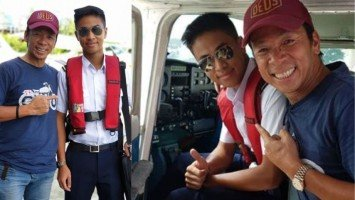 Kuya Kim Atienza's son is now a pilot, successfully executes first solo flight