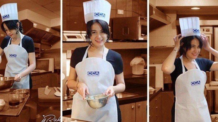 Bea tries baking