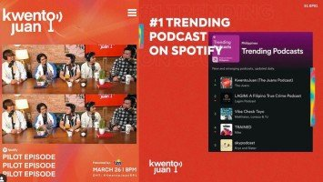 Pika's Pick: The Juans' KwentoJuan pilot episode lands in the No.1 trending podcast on Spotify