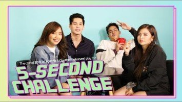 Sisters Forever cast Gab Lagman, Julian Trono, Carlyn Ocampo, and Ella Cruz take on the 5-second challenge