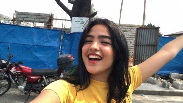Andrea Brillantes shows her future home in the works to her followers.