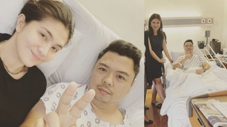 "Dimples Romana's husband is ""on his way to recovery."""