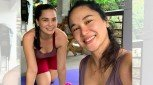 Pika's Pick: Lovely Hermosa sisters Kathleen and Kristine bond for a work-out session