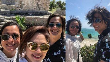 Juday reunites with San Francisco based BFF Beth Tamayo in Mexico