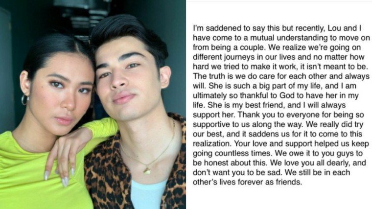 LouDre has parted ways! Andre Brouillette announced on Instagram that he and Lou Yanong have parted ways as a couple!