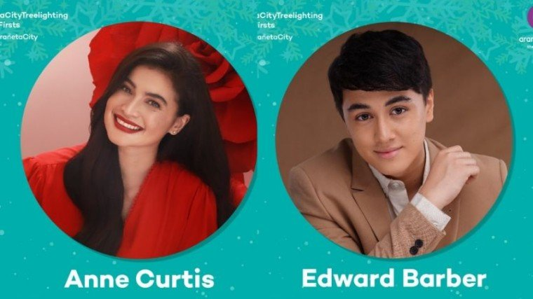 """High-wattage Kapamilya stars Anne Curtis and Edward Barber are set to lead the event—dubbed """"Christmas and the City: Giant Christmas Tree Lighting""""—which is scheduled this coming Friday, November 8."""