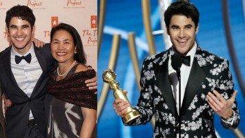 Darren Criss honors Filipino mom in his Golden Globe speech