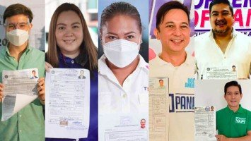 Celebrities and political figures—Claudine Barretto, Karla Estrada, Arjo Atayde, Tom Rodriguez, Bobby Andrews, and more—file their certificate of candidacy for the 2022 elections (Part 3)