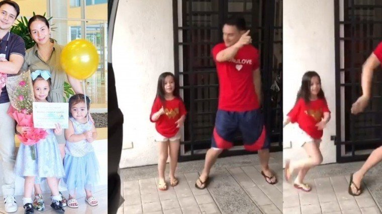 GOOD VIBES: Patrick Garcia & daughter Michelle do the #InMyFeelings challenge