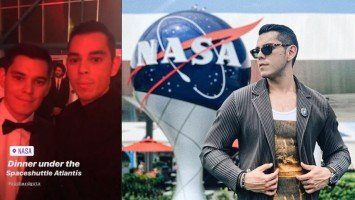 Raymond and Richard Gutierrez celebrate historic moon landing at NASA