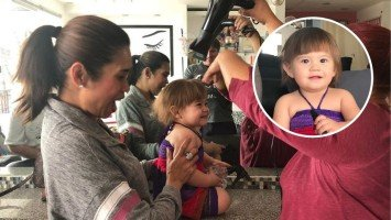Pokwang's daughter Malia O'Brian gets her first haircut