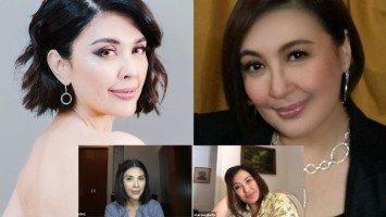 """Online Girl Talk nina Pops Fernandez at Sharon Cuneta, naging mala-50 Shades of Grey dahil sa mga usapang """"dim lights,"""" """"skinny dipping,"""" at """"posas"""""""