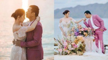 Look: Ara Mina and Dave Almarinez share their charming Palawan prenup shoot