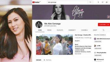 Alex Gonzaga, hindi makapaniwalng siya ang No. 1 local celebrity YouTuber
