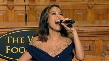 Rachelle Ann Go receives a standing ovation for performance at 2019 World Food Prize Laureate Award ceremony