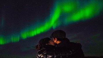 Kathryn Bernardo and Daniel Padilla share a sweet moment under the Northern Lights in Iceland
