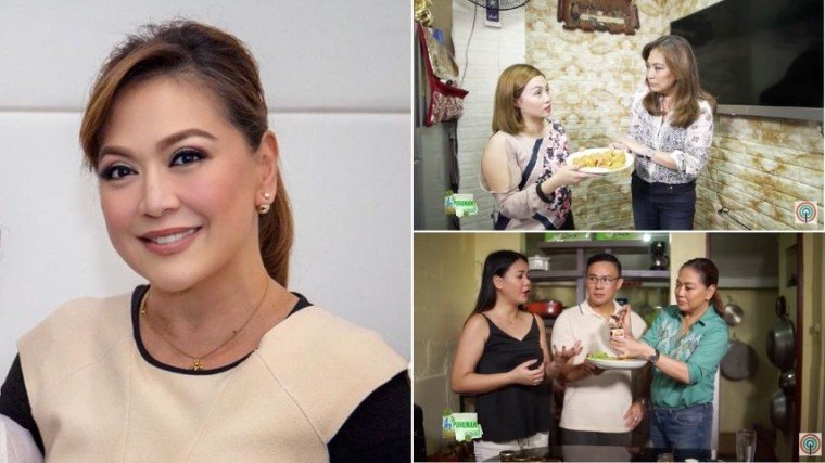 Karen Davila here with some of her featured rags-to-riches entrepreneurs namely Angel Maniti of Anghelita's Hamonado (top photo) and Gelo Abaca and his wife (bottom) who sells Gelo's Bacon Jam.