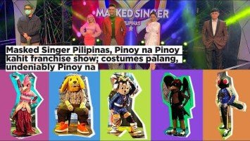 Masked Singer Pilipinas, Pinoy na Pinoy kahit franchise show; costumes palang,  undeniably Pinoy na