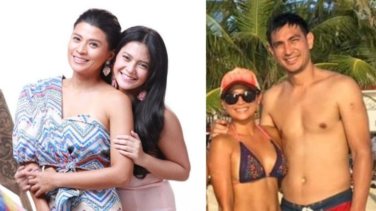 (Left photo) Mylene Dizon plays as Manisan, the mother of Sahaya played by Bianca Umali in GMA-7 latest drama series, Sahaya. (Right photo) Mylene with her boyfriend of six years, Jason Webb. The photo, which Mylene posted in her IG account, was taken in Boracay in December last year.