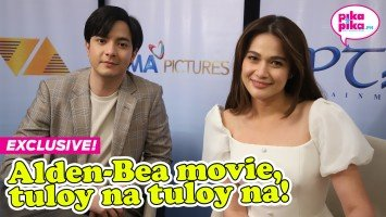 Exclusive coverage of the Alden Richards-Bea Alonzo movie contract-signing