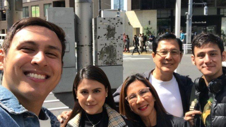 TJ (rightmost) is the eldest son of Tirso Cruz III and his wife Lynn Ynchausti Cruz.