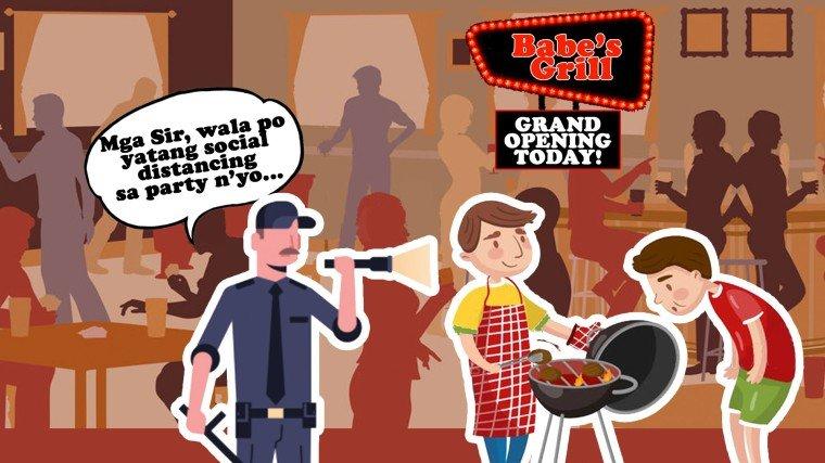 """Dalawang aktor na """"Babe"""" ang tawagan, na-barangay dahil sa pagpapa-party"""