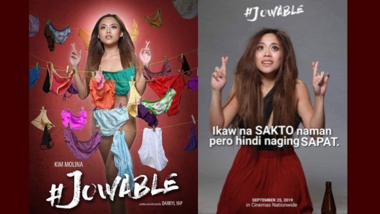 #Jowable, which is talented Kim Molina's launching movie, will hit theaters September 25.