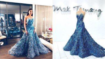 LOOK: Mak Tumang tells the story behind Catriona Gray's stunning Miss Universe final-walk gown