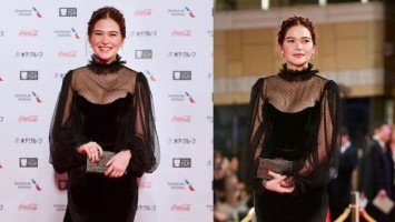 Bela Padilla graces 32nd Tokyo International Film Festival's red carpet representing Graded A film, Mañanita