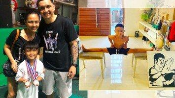 Pika's Pick: LJ Moreno flexes the future Bruce Lee in son Ian Maximus