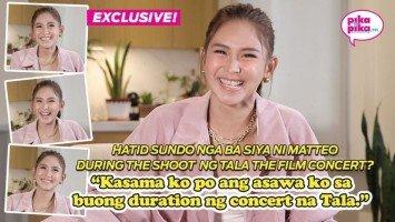 """Exclusive: Kay Sarah Geronimo na mismong nanggaling: """"medyo buwis-buhay po"""" ang pa-stunt niya sa Tala The Film Concert"""