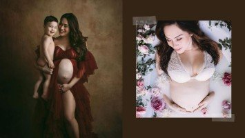 IN PHOTOS: Cristalle Belo's painting-like and dreamy milk-bath themed maternity shoot!