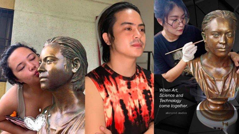 Pika's Pick: Sweethearts Inah Estrada and Jhake Vargas put up 3D art business; use actor's resin bust as sample