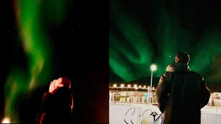 Maymay Entrata and Edward Barber catch a glimpse of the legendary Northern Lights in Norway. The two extended their stay in Norway after attending a Kapamilya show to share a magical moment together.