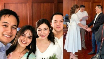 Pika's Pick: Yasmien Kurdi and husband Rey Soldevilla are witnesses to friend Charee Pineda's civil wedding to Martell Soledad held at the Valenzuela City Hall