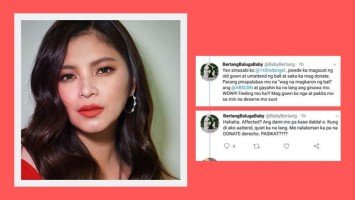 Angel Locsin responds to netizen who bashed her for donating instead of attending ABS-CBN Ball