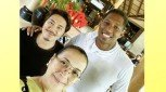 Pika's Pick: Janno Gibbs and wife Bing Loyzaga meet PBA player Joe Devanve during a Balesin island vacay.