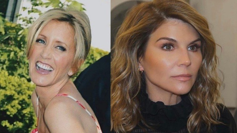 (L) Desperate Housewives star Felicity Huffman and (R) Fuller House star Lori Loughlin