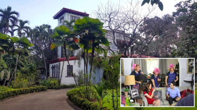 During the early phase of the AlDub craze in 2015, the Vera-Perez ancestral home inside the Sampaguita compound was used as the house of Lola Nidora (Wally Bayola) and sisters (Jose Manalo and Paolo Ballesteros). Unfortunately, those Eat Bulaga! scenes were always aired live and there was constantly a problem with the signal in the Vera-Perez home. When the production crew looked for an alternative venue, it didn't come as a surprise that they moved to the mansion of the De Leons, the owners of LVN Pictures, which produced the likes of iconic stars Nida Blanca and Charito Solis. It is located at the corner of 9th St. and Broadway in New Manila. The property is so huge, its back part stretches all the way to 8th St.