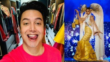 Paolo Ballesteros designs suman-inspired gown for a Bb. Pilipinas candidate