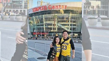 Pika's Pick: Camille Prats and hubby VJ Yambao share excitement in finally watching NBA star LeBron James play at the Staples Center in Los Angeles